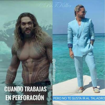 WHEN YOU WORK IN DRILLING BUT DONT LIKE GOING TO RIG 🙈  Este meme nos lo envia el amigo @pasandorueda ... Alguien lo entiende? 🤔🤔. #perfomemes #oilfieldmemes #maluma #aquaman #drillingengineer #riglovers
