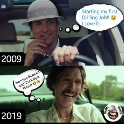 Joining the Drilling #10yearschallenge 😁😂. Send us your #perfo10yearschallenge Pics to DM to show how have you change after 10 years of Rig and oilfield works . This one thanks to 🔷@coloneloilfield after Ten years of blowout, Stuck pipes and all kind of drilling problems.  #humor #challenge #oilfieldmemes #workinginrig #perfomemes #tenyearschallenge #10yearchallenge